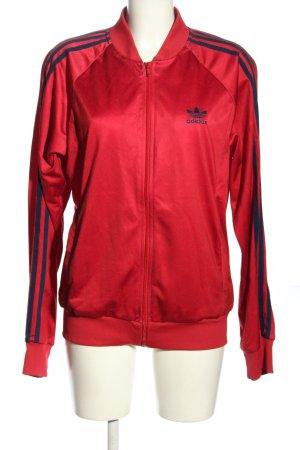 Adidas Veste chemise rouge-bleu style décontracté