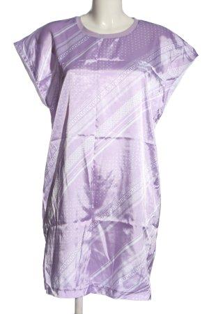 Adidas Shirtkleid lila-weiß Allover-Druck Casual-Look
