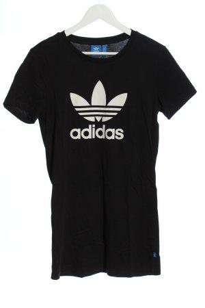 Adidas Lang shirt zwart-wit casual uitstraling