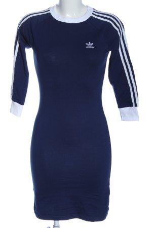 Adidas Chemisier blu-bianco stile casual