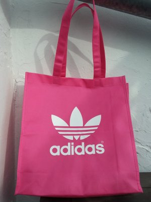 Adidas Borsa di tela fucsia neon-bianco