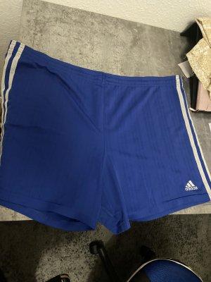 Adidas Sportshort blauw-wit