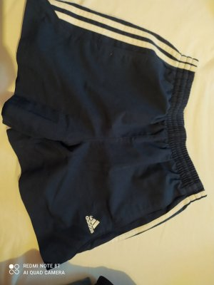 Adidas Short wit-korenblauw