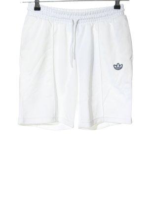Adidas Shorts bianco caratteri ricamati stile casual