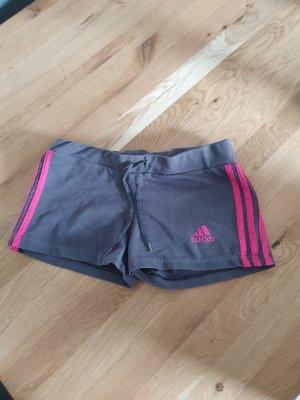 Adidas Short de sport gris foncé-rose