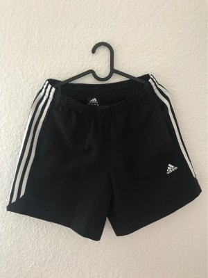 Adidas Short de sport noir-blanc