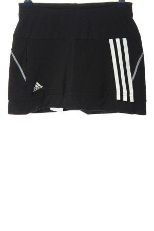 Adidas Skorts black-white printed lettering casual look