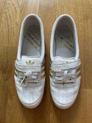 Adidas Sleek Größe 39 weiß gold Ballerina