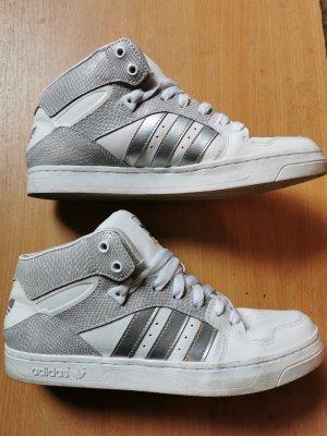 Adidas Originals Wysokie trampki srebrny-w kolorze białej wełny