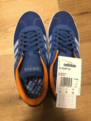 Adidas Sneaker, blau, orange NEU