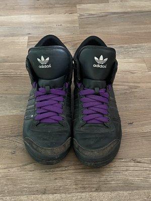 Adidas Sneakersy wciągane czarny-fiolet