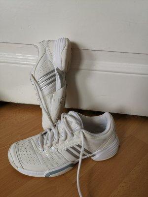 Adidas Sneaker Hallenschuhe Tennisschuhe Sportschuhe weiß/silber Gr. 37 1/3