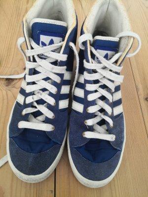 Adidas High top sneaker wit-blauw