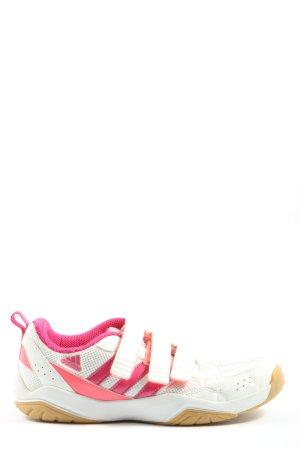 Adidas Sneaker Klettverschluss weiß-pink Motivdruck Casual-Look