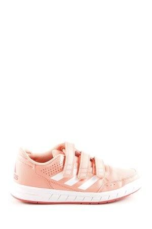 Adidas Sneaker Klettverschluss pink-weiß Casual-Look