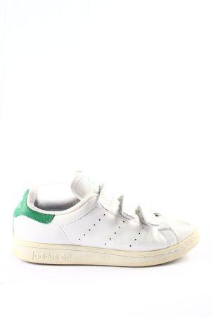 Adidas Sneaker Klettverschluss weiß-grün Casual-Look