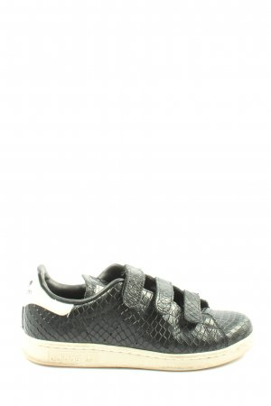 Adidas Basket hook-and-loop fastener noir imprimé allover style décontracté