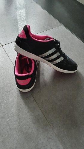 Adidas NEO Sznurowane trampki czarny-różowy
