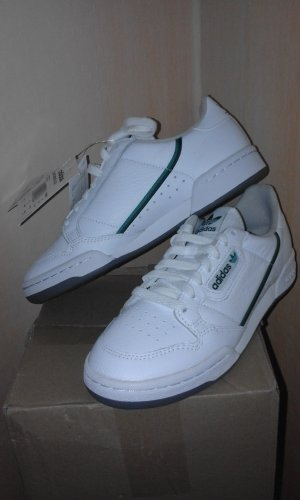 Adidas Originals Lace-Up Sneaker white-forest green leather