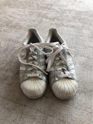 Adidas Zapatos de patinador blanco-color plata