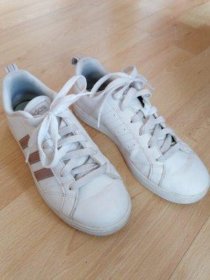 Adidas Sznurowane trampki biały-w kolorze różowego złota