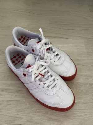 Adidas Lace-Up Sneaker white-red leather