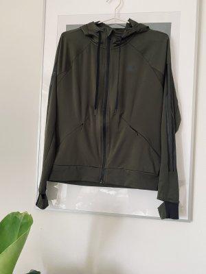 Adidas Sweatshirt met capuchon groen-grijs