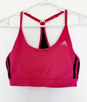 Adidas Reggiseno nero-rosso neon