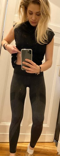 Adidas Sportbroek grijs-zwart