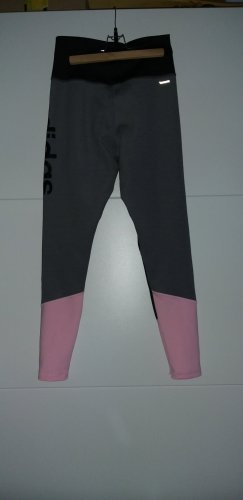 Adidas Sport Thights Leggings Gym climalite schwarz rosa grau S 36