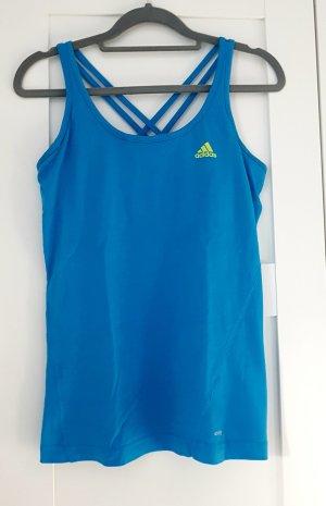 Adidas Sporttop neon blauw