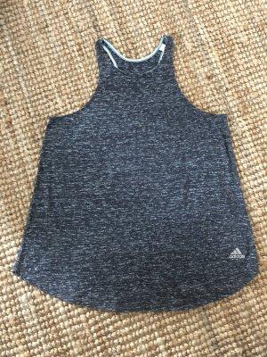 Adidas Canotta sportiva blu scuro-grigio scuro