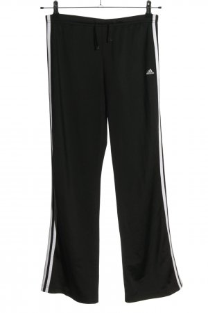 Adidas Trackies black-white embroidered lettering simple style