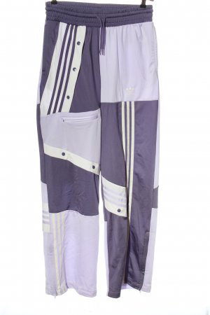 Adidas Sporthose lila Schriftzug gestickt Casual-Look