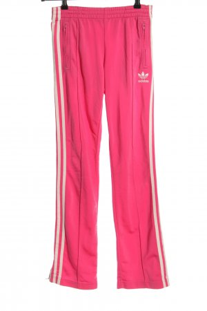 Adidas Sporthose pink-wollweiß Streifenmuster Casual-Look