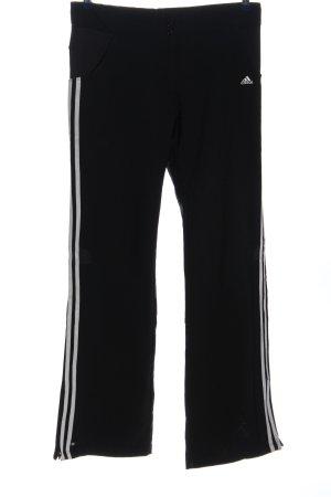 Adidas Pantalon de sport noir-blanc motif rayé style décontracté