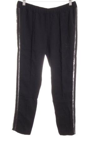 Adidas Sporthose schwarz-silberfarben sportlicher Stil