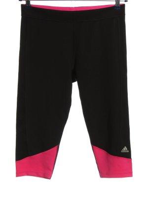 Adidas Sporthose schwarz-pink Schriftzug gedruckt sportlicher Stil