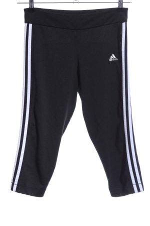 Adidas Sporthose schwarz-weiß Schriftzug gedruckt sportlicher Stil