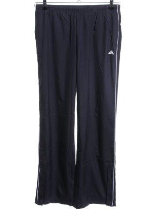 Adidas Sporthose blau-weiß Casual-Look