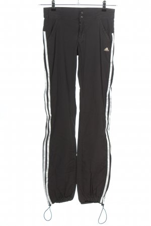Adidas Trackies black-white striped pattern athletic style
