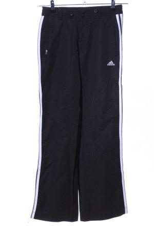 Adidas Sporthose schwarz Streifenmuster Casual-Look
