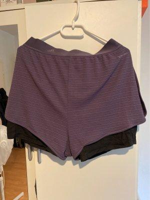 Adidas Short de sport gris violet-noir