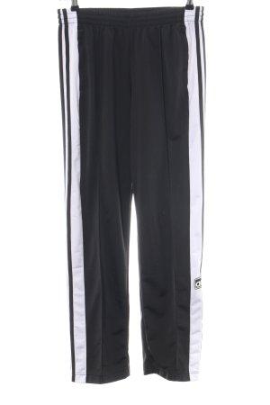 Adidas Sporthose schwarz-weiß Casual-Look