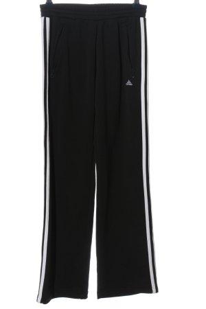 Adidas Pantalon de sport noir-blanc style athlétique