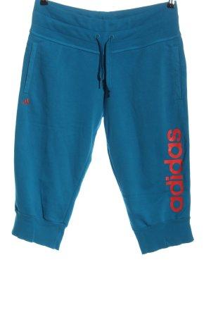 Adidas Sporthose blau-rot Motivdruck Casual-Look
