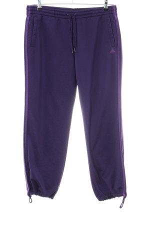 Adidas Sporthose lila Streifenmuster Casual-Look