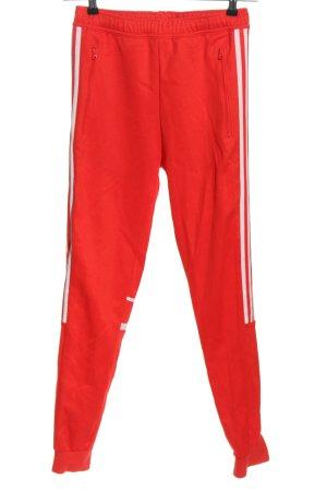 Adidas Spodnie sportowe czerwony-biały W stylu casual