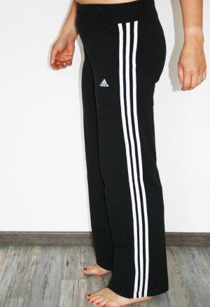 Adidas Sporthose schwarz-weiß Streifenmuster gr.36/ 1x getragen/wie neue!