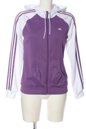 Adidas Sportjacke lila-weiß sportlicher Stil